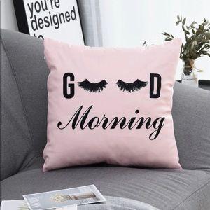 Light Pink Good Morning Eyelash Pillow